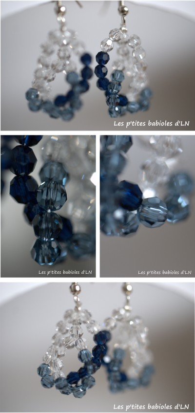 BO, boucle d'oreille, BO and GIRLS SHOW, bleu, swarovski, create your style
